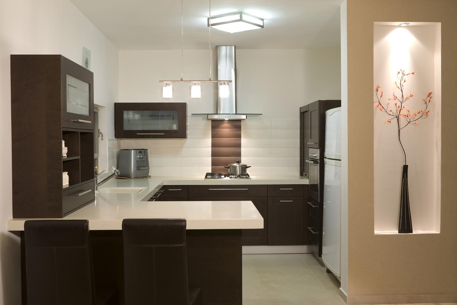 Brown Modern Kitchen