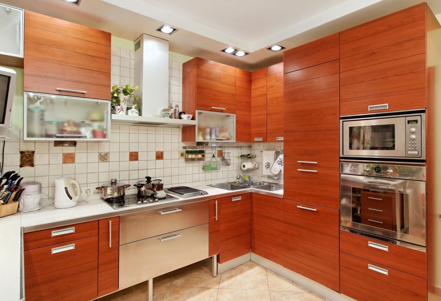 Cherry Modern Kitchen